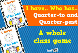 i have who has quarter to and quarter past fun printable