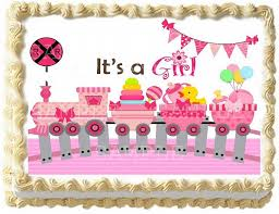 pink train baby baby shower by eyecandeycreativedesigns on