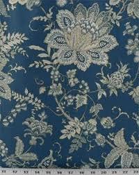 Online Drapery Fabric Ophelia Iris Blue Floral Linen Blend Drapery Fabric 53111 Buy