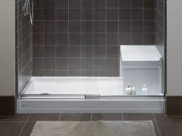 shower space walls bases guides bathroom kohler shower bases with integral seats