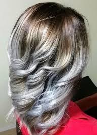 grey streaks in hair hair style fashion