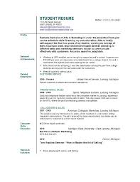 Resume Example College Student by Sample Resume For Student This Ms Word Entry Level Nurse Resume
