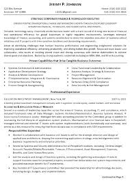 Executive Resume Example by Resume Sample 12 Strategic Corporate Finance U0026 Technology