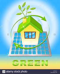 green house meaning eco friendly nature 3d illustration stock