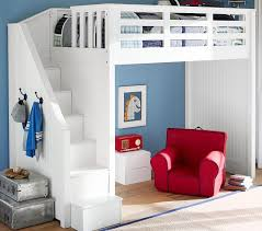 Bunk Bed For Boys Stair Loft Bed Pottery Barn