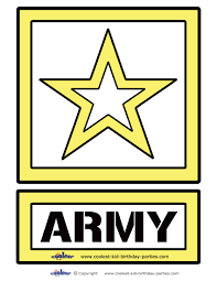 large printable army decoration coolest free printables