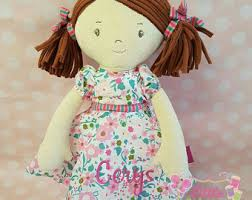 flower girl doll gift personalized dolls etsy