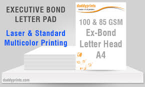 executive bond letter pad