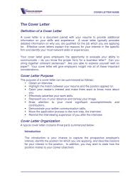cover letter definition for resume