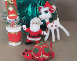 vintage bell ornaments 1960 s sears glass