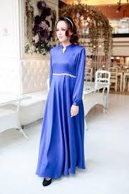 sleeves gentian flowy long dress in royal blue