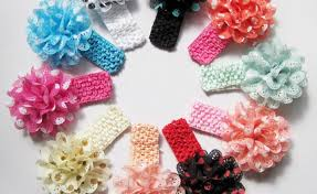 baby girl headwraps flower crochet headband lot gardening flower and vegetables