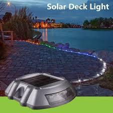 Solar Traffic Light - 1x path driveway pathway solar powered deck light warning light