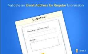 email validation pattern regex regular expression to validate an email address formget