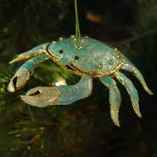 blue crab ornament l coastal l www carolinadesigns