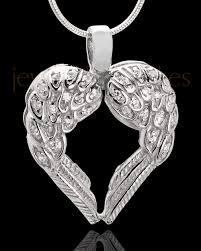 cremation pendants beautiful silver angel wing cremation jewelry with gemstones