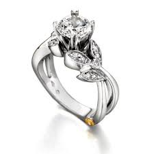 floral engagement rings schneider mystic 1 15cttw floral diamond engagement ring