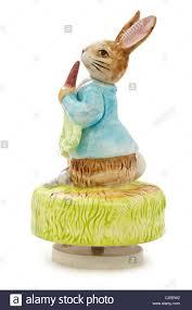 peter rabbit revolving ceramic figurine musical movement