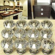 glass kitchen cabinet door pulls 12x glass door knobs drawer cabinet furniture kitchen handle home decor