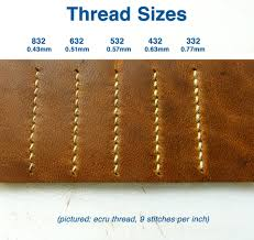 brown linen cord thread for hand sewing leather goods