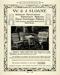 1915 ad w j sloane dryad cane furniture home decor original