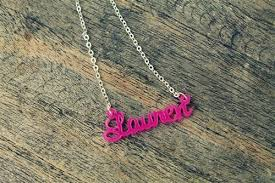 acrylic name necklace monogrammed acrylic name necklace