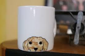 animal mug hand painted animal mug cup cute mug cup dog mug cup
