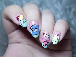 36 fabulous birthday nail art designs styles and ideas picsmine