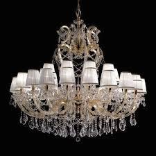 Classic Chandelier Classic Chandelier Glass Metal Fabric Opera Prearo