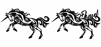unicorn tribal wall art black wood home decor u2013 eye grind design