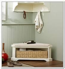 Corner Bench With Storage Corner Shoe Storage Bench Home Design Ideas