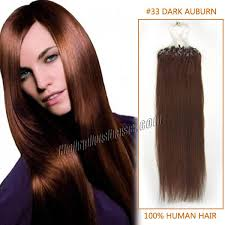 18 inch extensions inch 33 auburn micro loop human hair extensions 100s