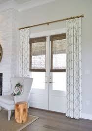 curtains for glass doors this is not a roman shade even better no cords and no holes