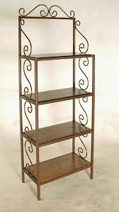 Metal Bakers Rack Glass Shelf Bakers Rack