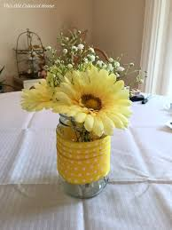jar centerpieces for baby shower flowers this colonial home