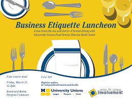 business etiquette luncheon campus involvement