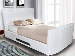 Kingsize Tv Bed Frame Signature Rathbone Ivory White Tv Bed Frame 5ft Kingsize