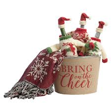 winter sweater wine bottle toppers lillian vernon