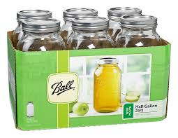 Kitchen Glass Canisters With Lids by Amazon Com Ball Wide Mouth Half Gallon 64 Oz Jars With Lids And