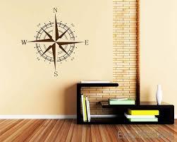nautical compass vinyl decal beach nursery decor wall art