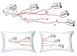 love knot pillow cases love gifts