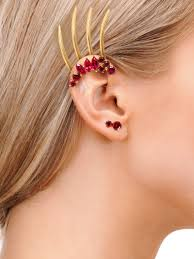 stud ear isadora stud earrings with garnets in 18k gold diaboli kill