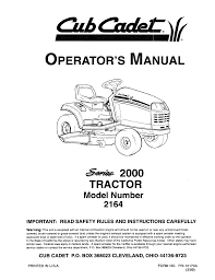 cub cadet lawn mower 2164 user guide manualsonline com