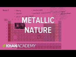 Khan Academy Periodic Table Metallic Nature Periodic Table Khan Academy