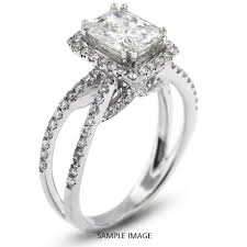 radiant cut halo engagement rings 18k white gold halo engagement ring 2 82 carat total f si1