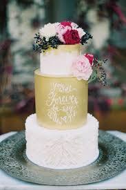 wedding cake gold gold fondant handpainted quote wedding cake chic vintage brides