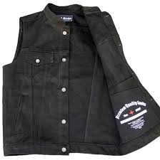 leather biker vest black denim vest crank u0026 stroker