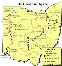 map of the erie canal recreation along ohio s canals