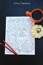 free fall coloring page artzycreations com