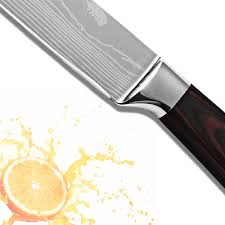 xyj brand 8 inch slicing knife color wood handle 7cr17 stainless